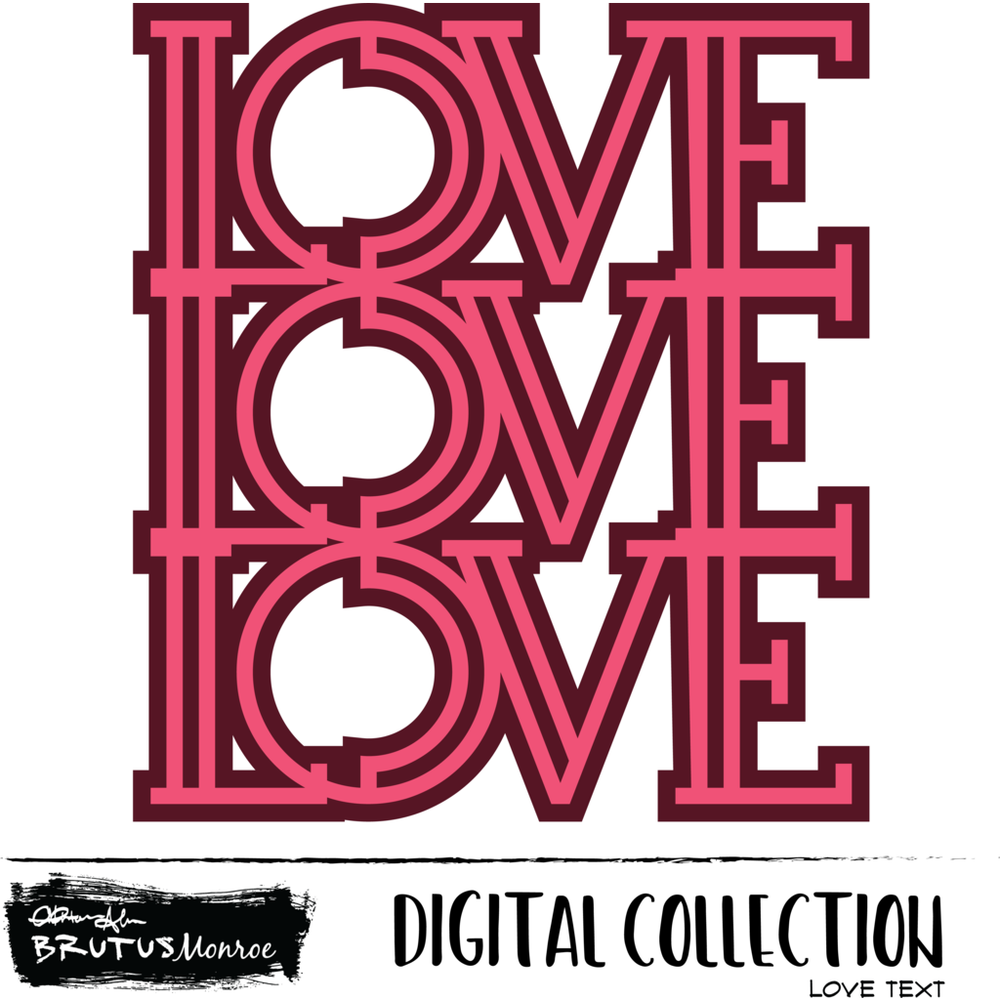 Love Three Times - Digital Cut File
