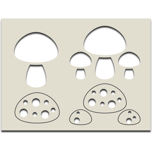 Mini Layering Stencil - Mushroom Layers
