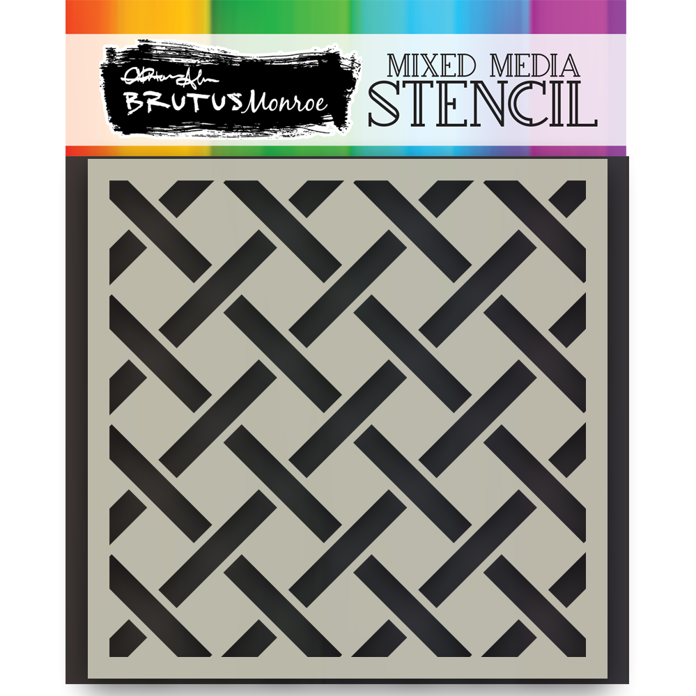 Mixed Media Stencil - Open Weave