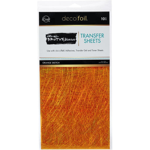 "Brutus Monroe Foil Transfer Sheets 6"" x 12"" sheets - Orange Sketch"