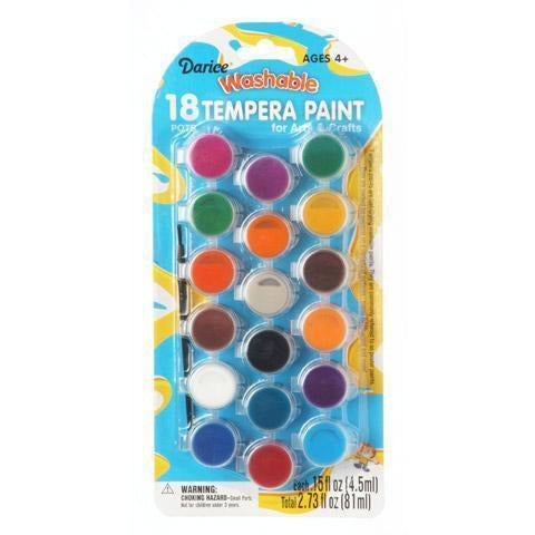 Kids Washable Tempera Paint Set - 18 Assorted Colors