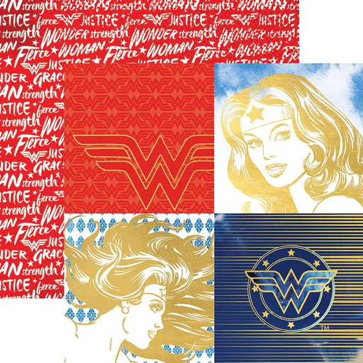 Wonder Woman Portraits Foil Paper