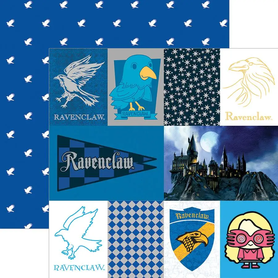 Harry Potter Ravenclaw Tag Double Sided Embellished Paper