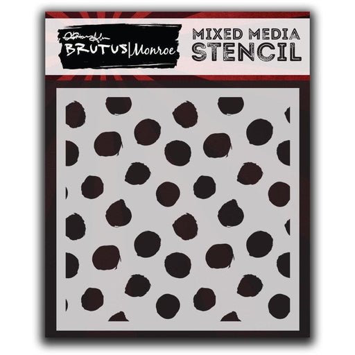 Mixed Media Stencil - Paint Spots