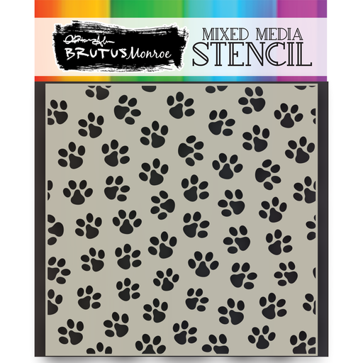 Mixed Media Stencil - Paw Print