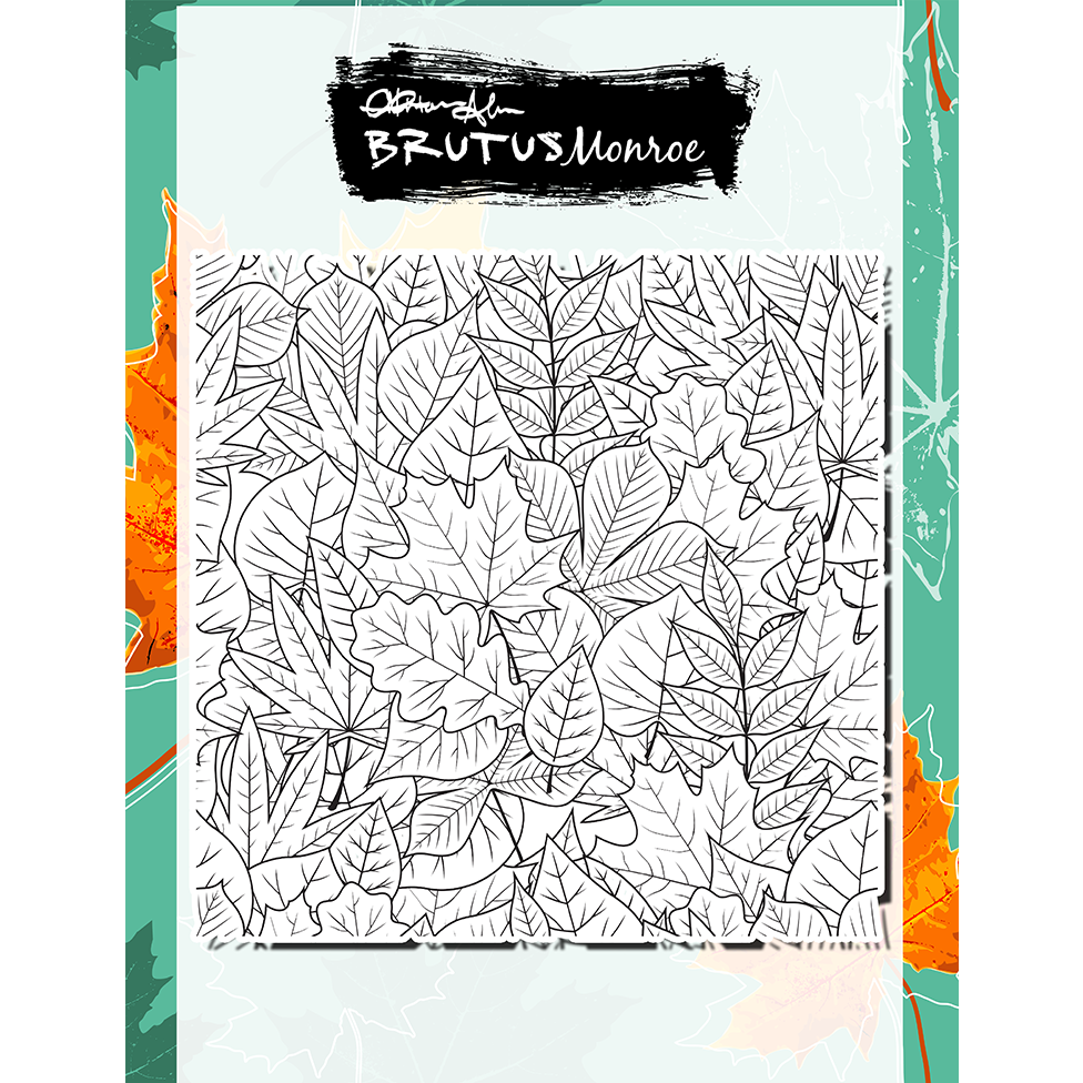 Pile of Leaves - 6x6 Background Stamp