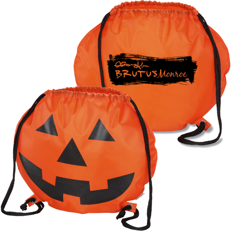 Monroe Merch - Pumpkin Drawstring Backpack