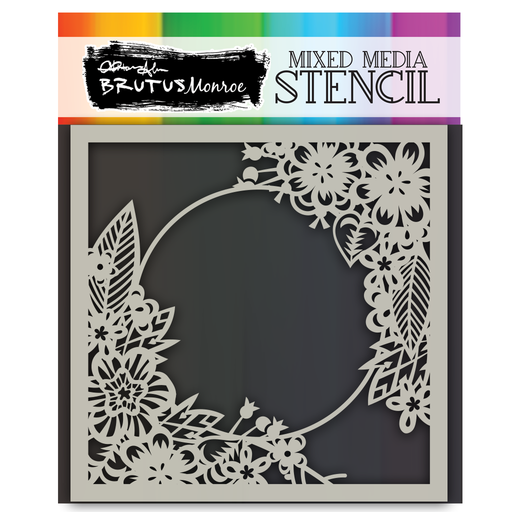 Mixed Media Stencil - Floral Hoop