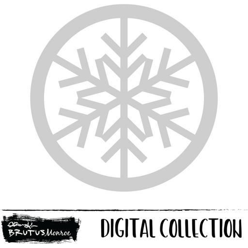 Rudolph - Snowflake Shaker - Digital Cut File