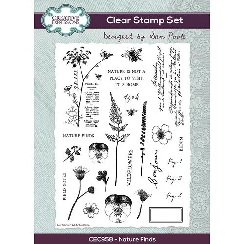 Nature Finds A5 Clear Stamp Set - Creative Expressions