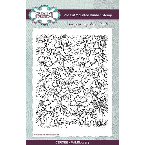 Wildflowers A6 Rubber Stamp Set - Creative Expressions