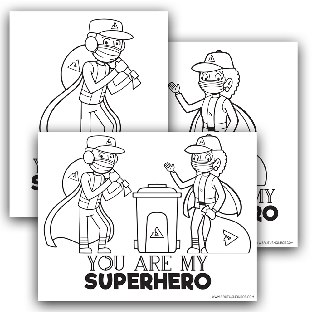 Sanitation Engineer Super Hero - Coloring Pages