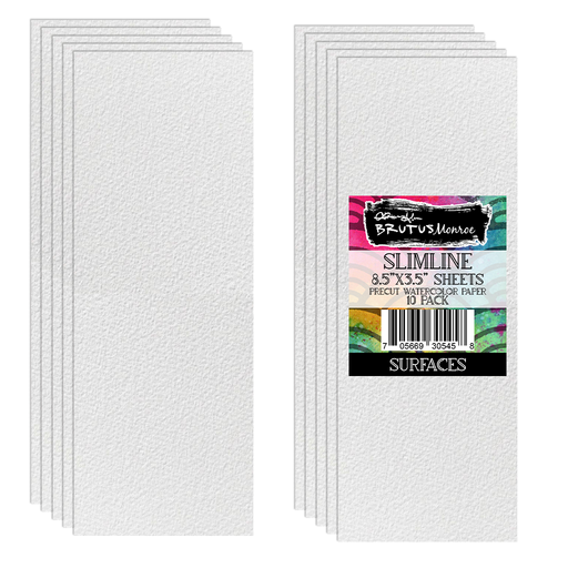 "Aqua Pigment | Watercolor Paper | 10 Sheets | Slimline | 3.5"" x 8.5"""