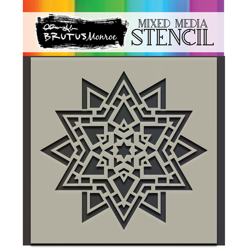Mixed Media Stencil - Star Lantern