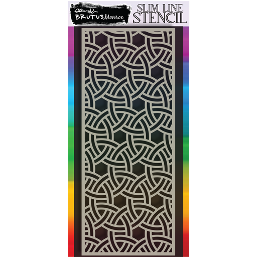 Slim Line Stencil - Tangled Loops