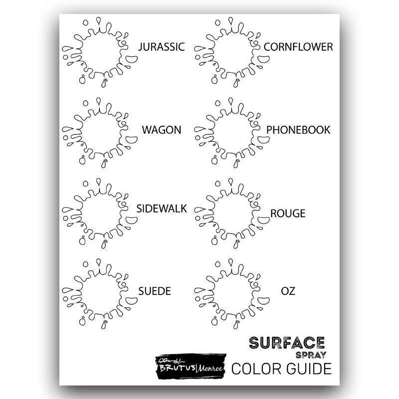 Surface Spray Swatch Guide