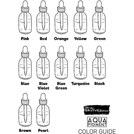 Aqua Pigment Color Swatch Guide