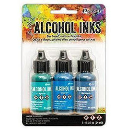 Tim Holtz® Alcohol Ink Kit - Teal/Blue Spectrum
