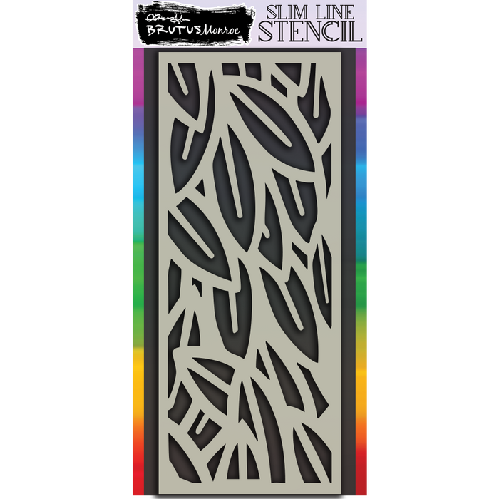 Slim Line Stencil - Tea Leaf