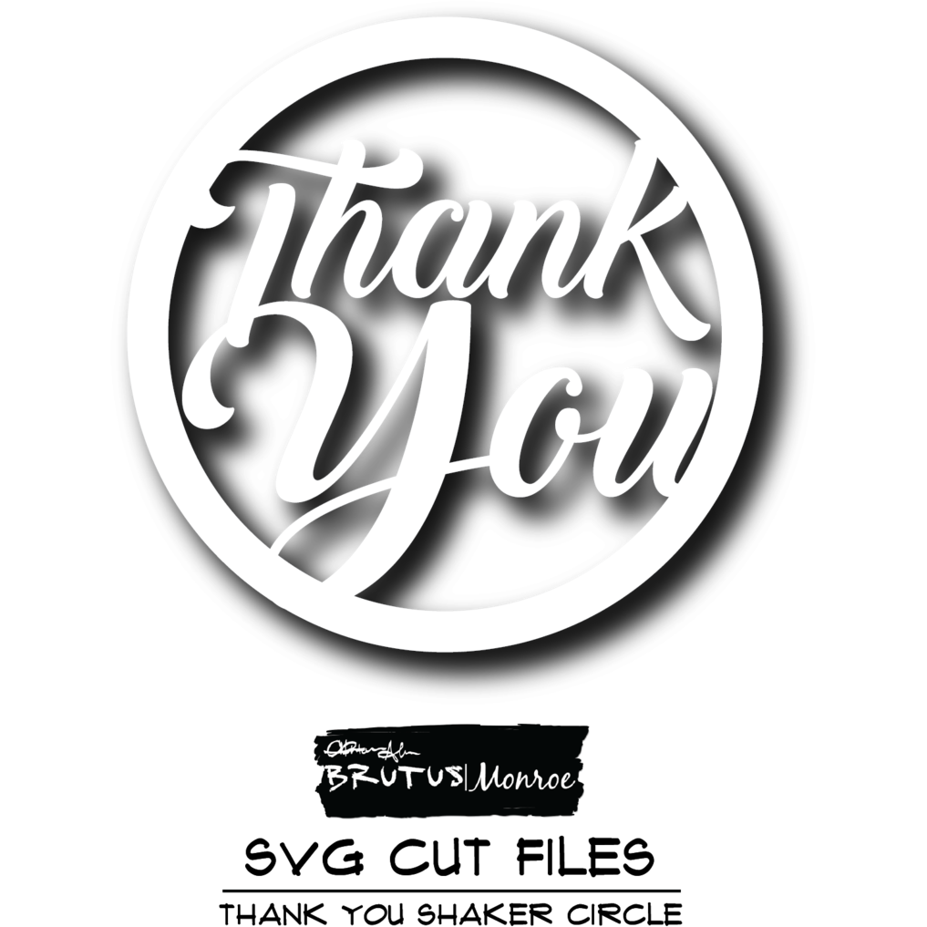 Thank You Shaker - SVG Cut File