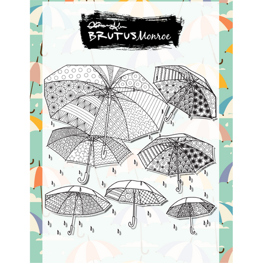Abstract Umbrellas - 6x6 Background Stamp