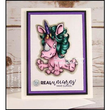 Unicorn Curves- 3x4 Stamp