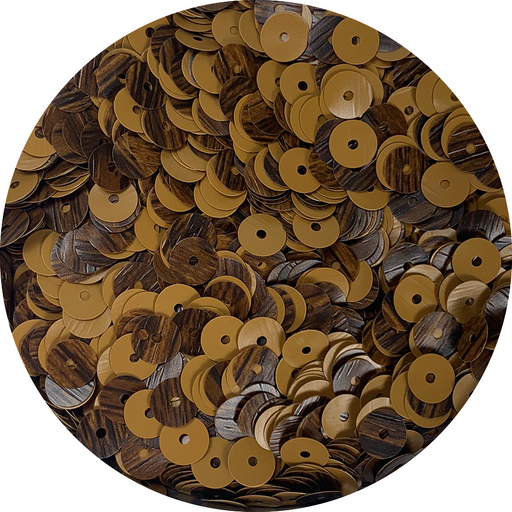 Wood Grain Sequins - Walnut