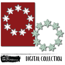 Holiday Wreath Panel - Snowflake - Digital