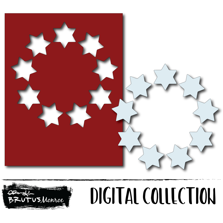 Holiday Wreath Panel - Star of David - Digital