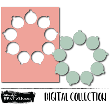 Holiday Wreath Panel - Ornament - Digital