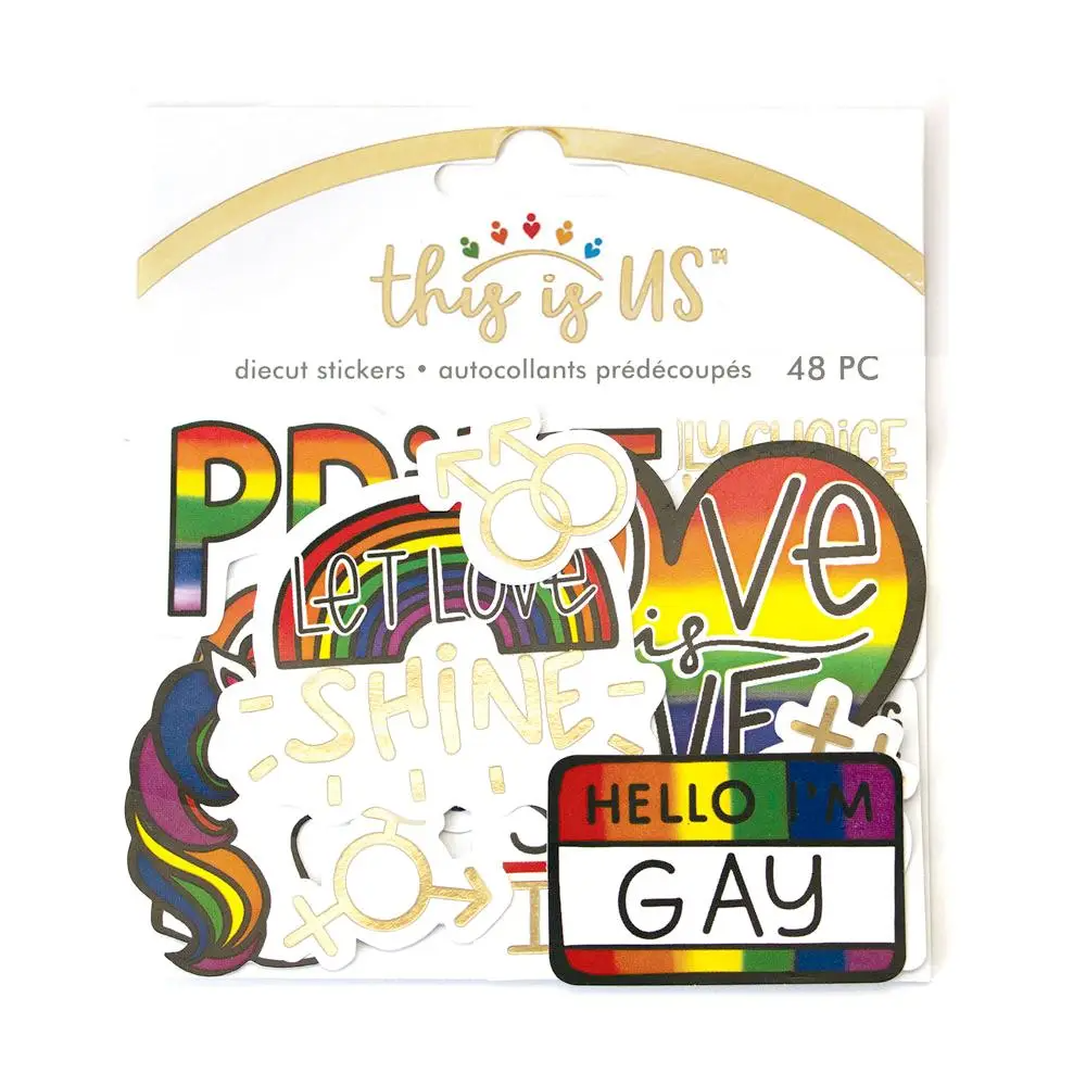 Love is Love Diecut Sticker Set