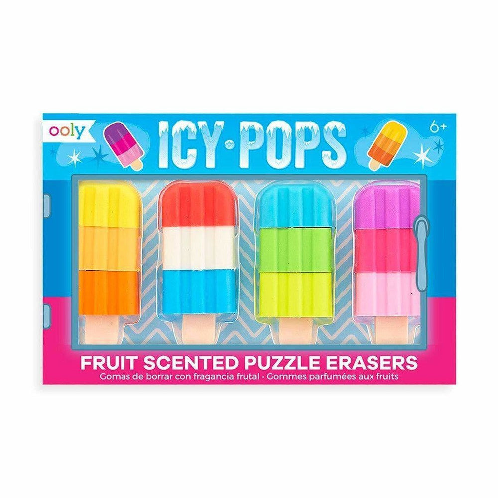 OOLY - Icy Pops Scented Puzzle Erasers - Set of 4