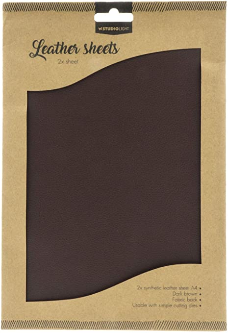 Studio Light- Leather Sheets- Dark Brown