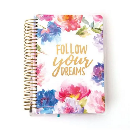 Cool Floral Dreams Mini 12 Month Undated Planner