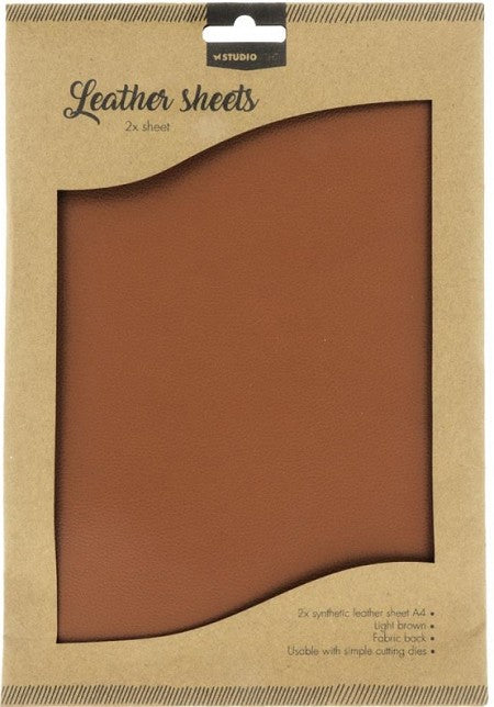 Studio Light- Leather Sheets- Light Brown