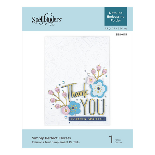 Simply Perfect Florets Embossing Folder