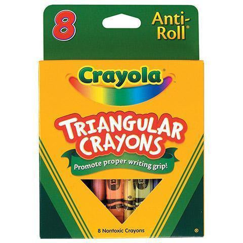Crayola Crayons: Triangular Anti-Roll Shape - 8 Count