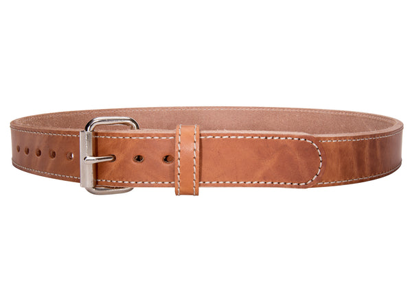 BULLBELT® NATURAL STITCHED BULLHIDE GUN BELT