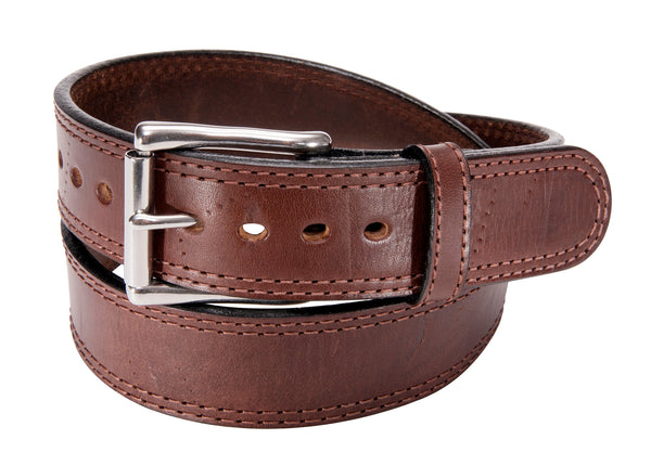 "BULLBELT® 1.5"" ZOMBIE DISTRESSED DOUBLE STITCHED BULLHIDE GUN BELT"