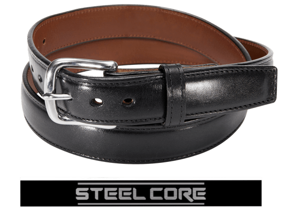 ITALIAN LEATHER STEEL CORE DRESS GUN BELT