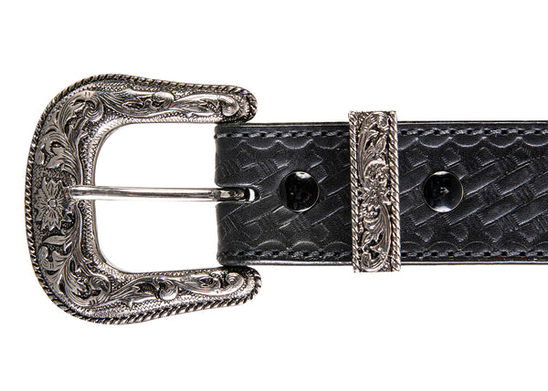 EVERYDAY BULLBELT® STITCHED BASKETWEAVE EMBOSSED WESTERN GUN BELT