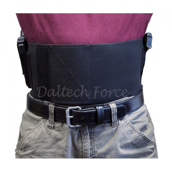 6 Inch Wide Two Gun Belly Band Holster