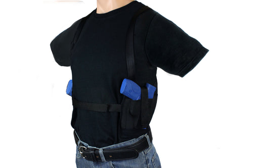 TWO GUN SHOULDER HOLSTER CONCEALMENT T-SHIRT