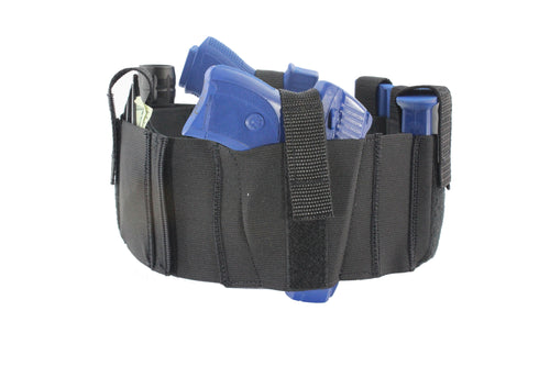 4 Inch Wide Two Gun Tactical Belly Band Holster