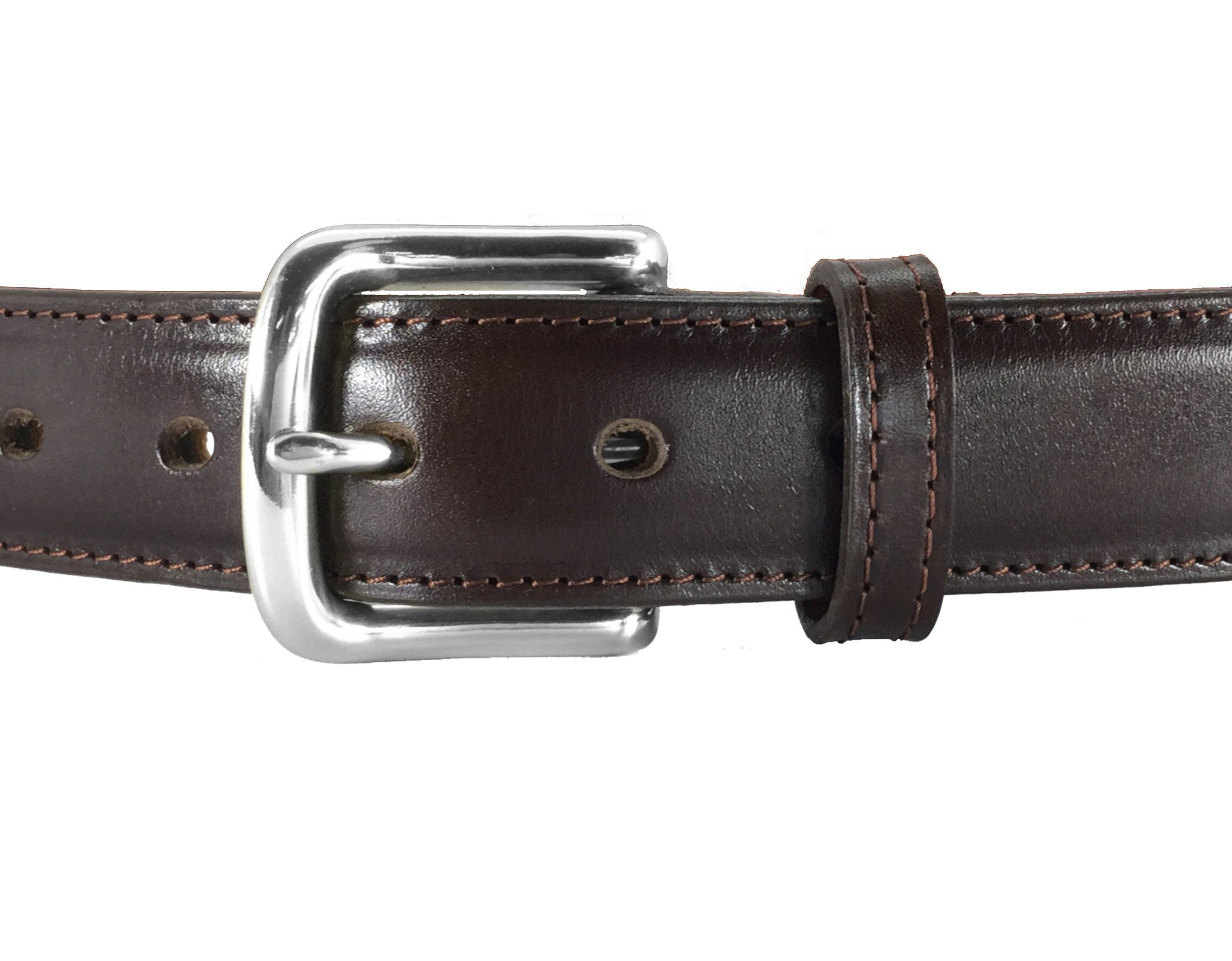 brown dress italian leather steel gun belt daltech