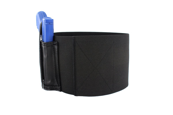6 Inch Wide One Gun LEATHER Belly Band Holster