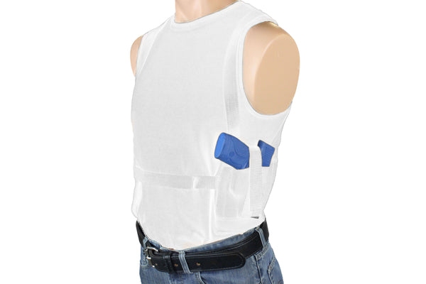 One Gun Two Mag Shoulder Holster Concealment Sleeveless T-Shirt