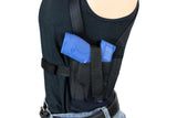 TWO GUN SHOULDER HOLSTER CONCEALMENT SLEEVELESS T-SHIRT