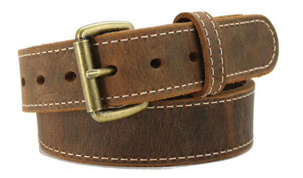 EVERYDAY BULLBELT® DISTRESSED STITCHED AMERICAN BISON