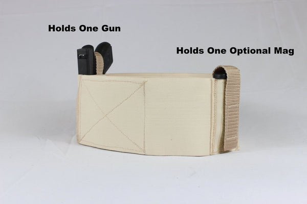 4 Inch Wide Nude Color One Gun Belly Band Holster